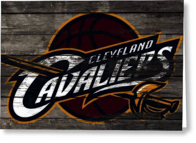 The Cleveland Cavaliers 3b      Greeting Card by Brian Reaves