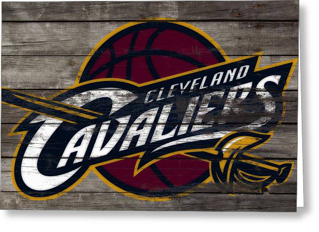 The Cleveland Cavaliers 3f      Greeting Card by Brian Reaves