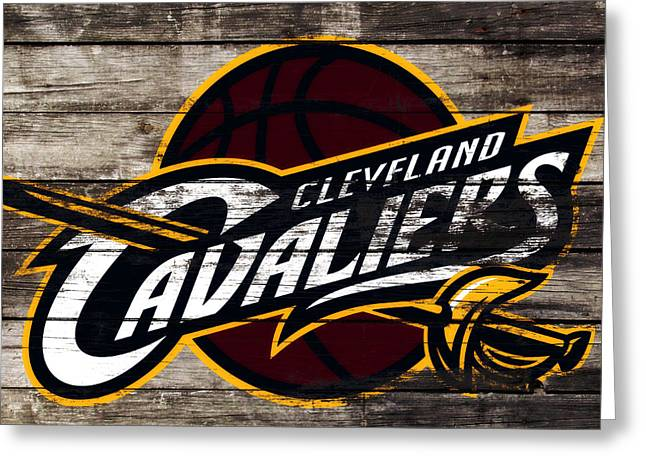 The Cleveland Cavaliers 3h      Greeting Card by Brian Reaves