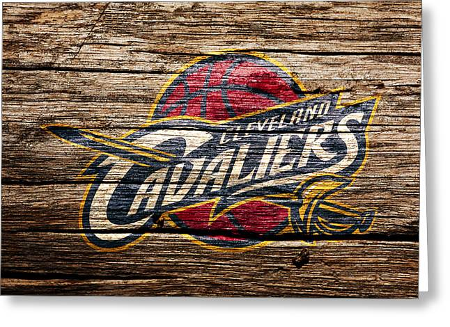 The Cleveland Cavaliers 4a Greeting Card by Brian Reaves