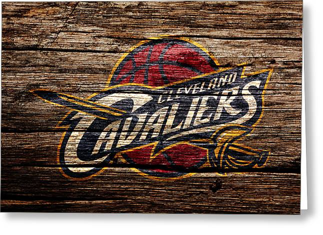 The Cleveland Cavaliers 4b Greeting Card by Brian Reaves