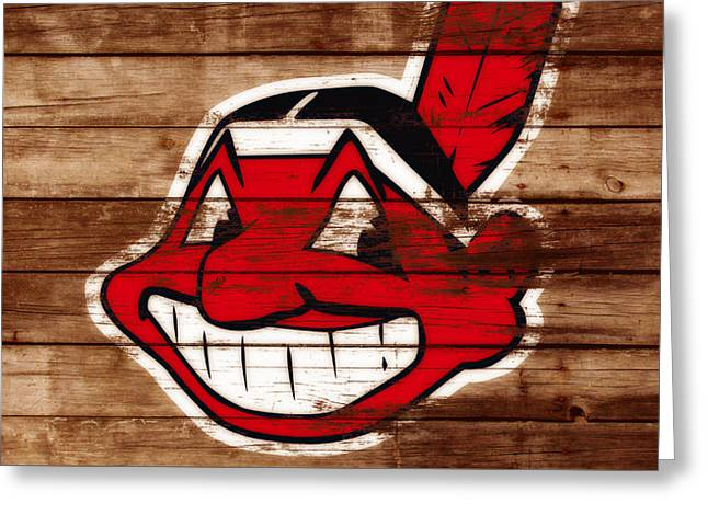 The Cleveland Indians C1 Greeting Card by Brian Reaves