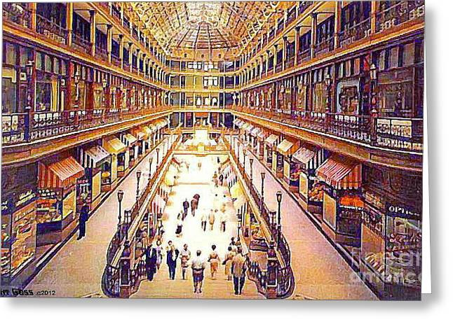 The Cleveland Mall In 1910 Greeting Card