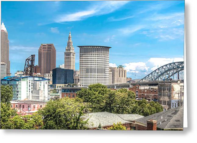 The Cleveland Skyline Greeting Card