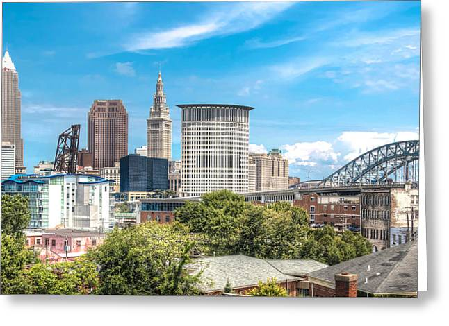 The Cleveland Skyline Greeting Card by Brent Durken