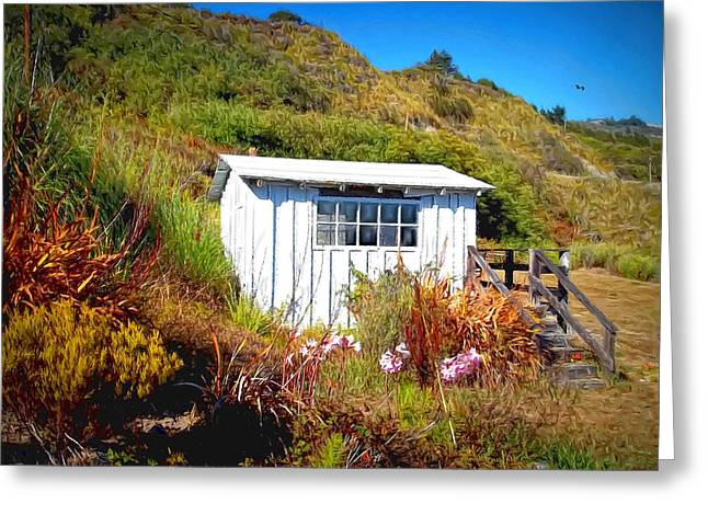 The Cliff Shack Greeting Card by Glenn McCarthy