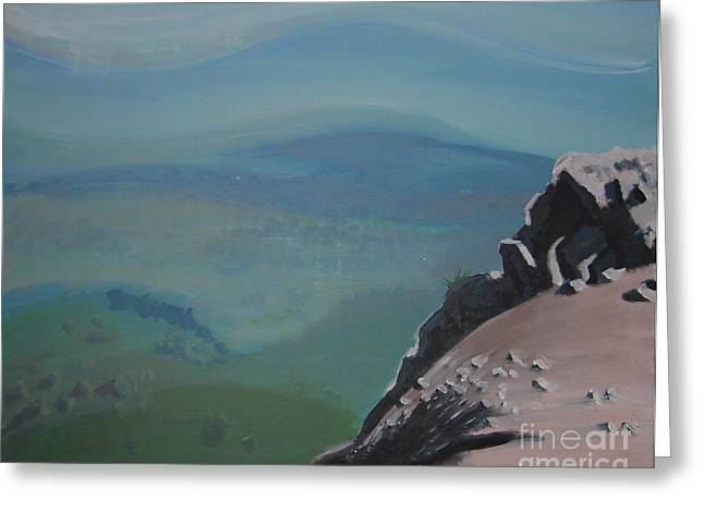 The Cliff Greeting Card by Stan Levine
