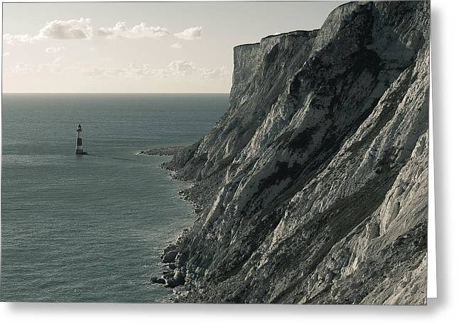 The Cliffs Of Beachy Head And The Lighthouse Greeting Card by Luka Matijevec