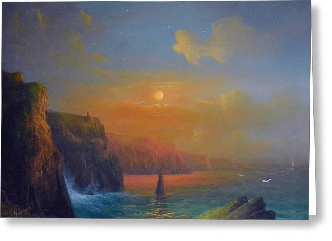 Ireland The Cliffs Of Moher  Greeting Card by Joe Gilronan