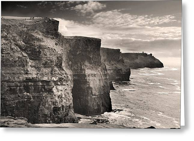 The Cliffs Of Moher Greeting Card by Robert Lacy