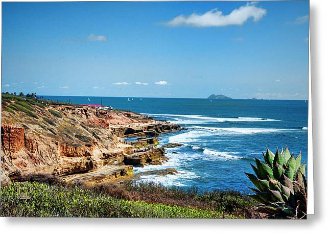 The Cliffs Of Point Loma Greeting Card