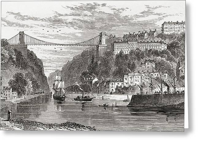 The Clifton Suspension Bridge, Spanning Greeting Card