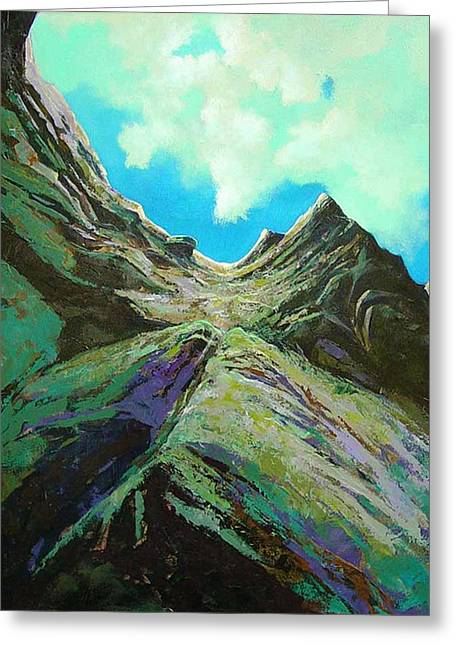 The Climb Greeting Card by Dale  Witherow