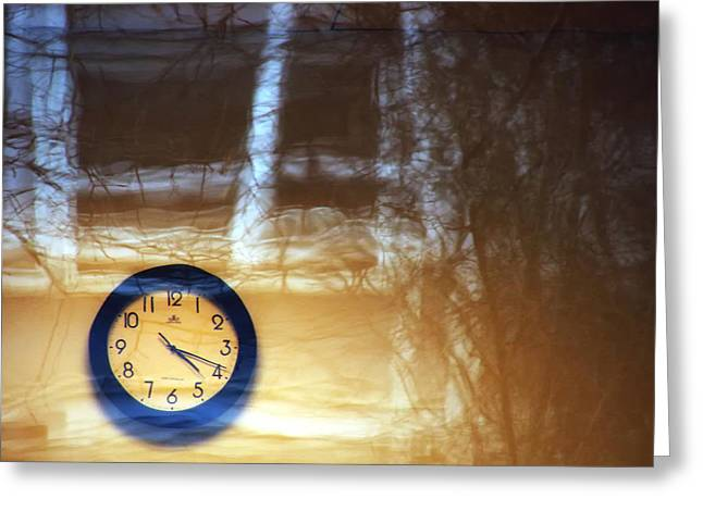 The Clock Of My Dreams Running Backwards Greeting Card by Marcus Hammerschmitt