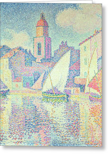 The Clocktower At St Tropez, 1896  Greeting Card