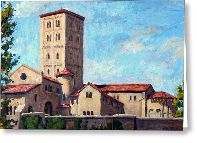 The Cloisters Sunny New York City Greeting Card by Thor Wickstrom
