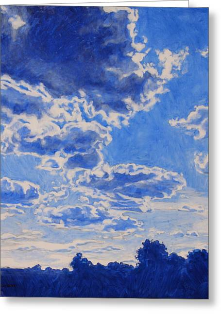 Greeting Card featuring the painting The Cloud Procession by Andrew Danielsen