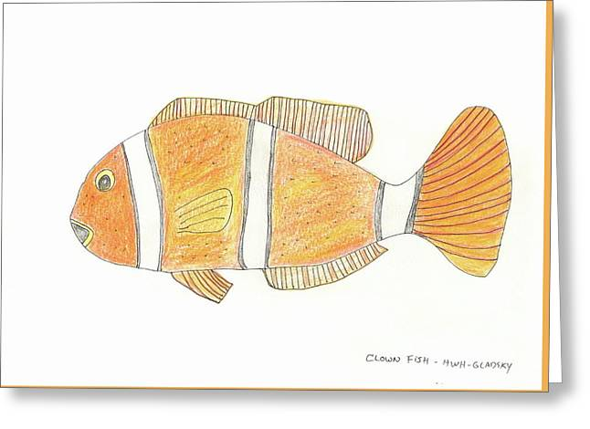 The Clown Fish Greeting Card