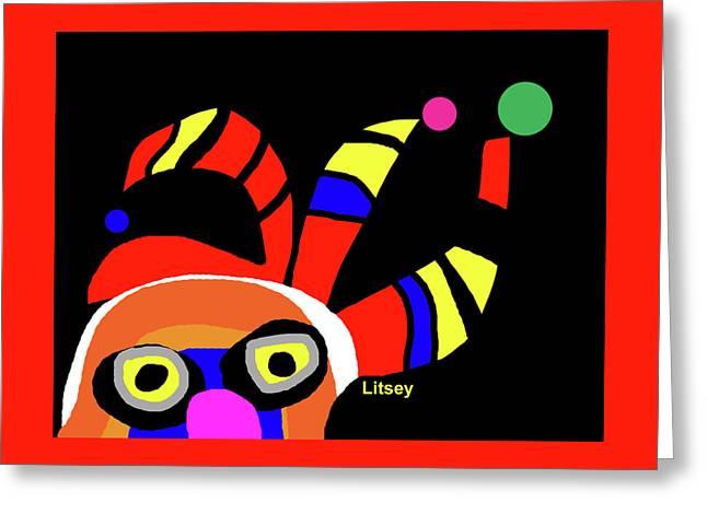 The Clown Man Greeting Card by International Artist Brent Litsey
