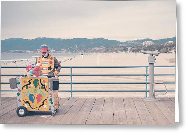The Clown Greeting Card by Nastasia Cook