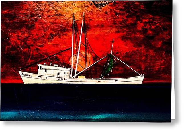 The Clyde Phillips At Sea Greeting Card by Barry Knauff