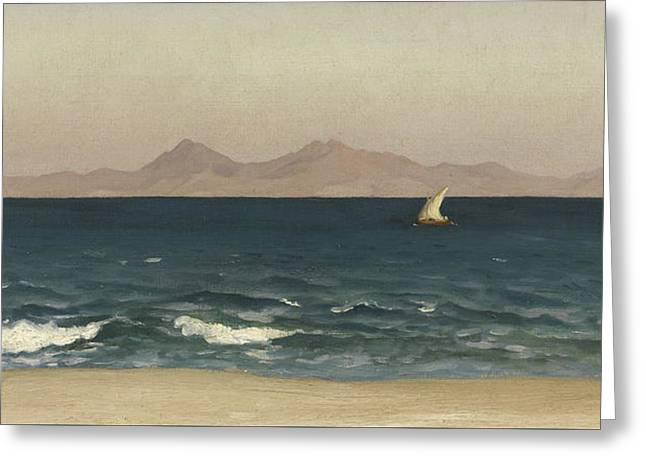 The Coast Of Asia Minor Greeting Card by Frederic Leighton
