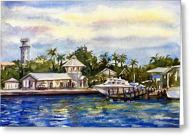 The Coast Of Nassau Greeting Card