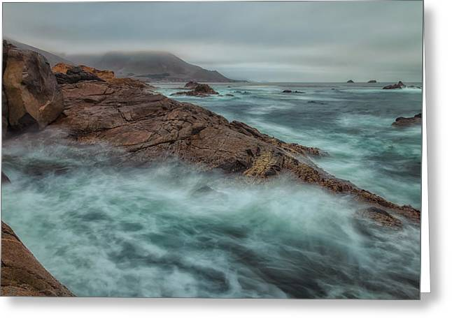 The Coastline Greeting Card by Jonathan Nguyen