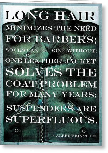 The Coat Problem 2.0 Greeting Card by Michelle Calkins