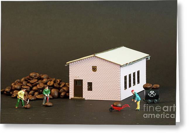 The Coffee Miners Greeting Card by Steve Purnell
