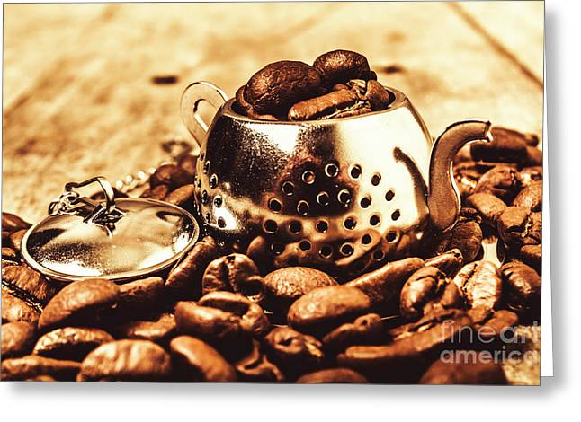 The Coffee Roast Greeting Card by Jorgo Photography - Wall Art Gallery