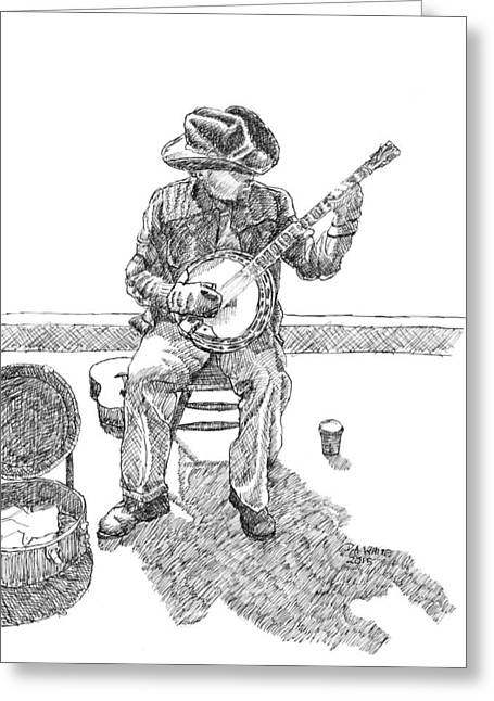 The Cold Banjo Player Greeting Card