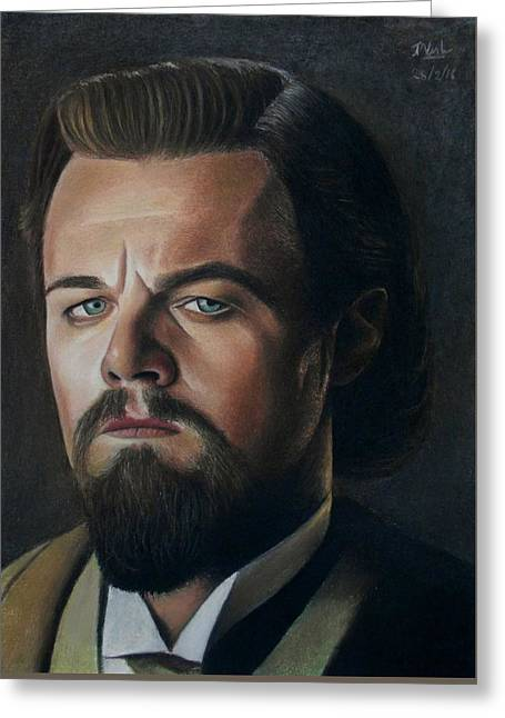 The Cold Expression - Leonardo Dicaprio Greeting Card