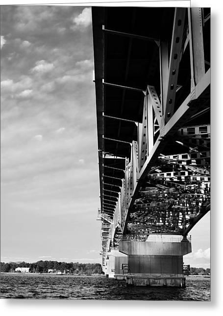 The Coleman Bridge Greeting Card by Rachel Morrison
