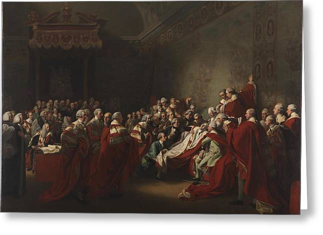 The Collapse Of The Earl Of Chatham In The House Greeting Card