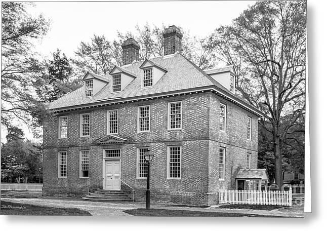 The College Of William And Mary Brafferton Building Greeting Card by University Icons