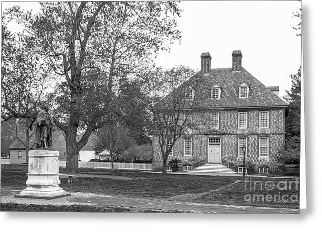 The College Of William And Mary President's House Greeting Card by University Icons