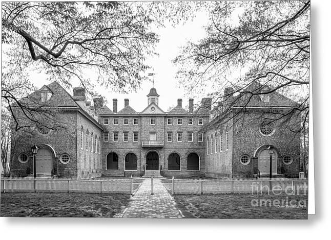 The College Of William And Mary Wren Building Courtyard Greeting Card by University Icons