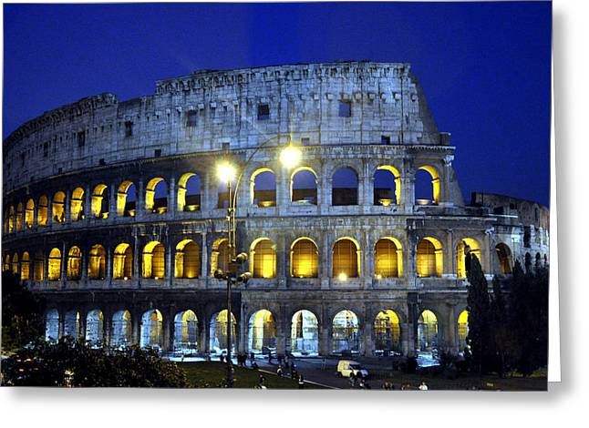 The Colliseum Greeting Card by Andrew Dinh