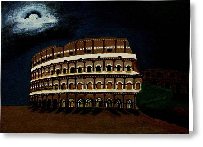 The Colliseum Greeting Card by Michelle Easton