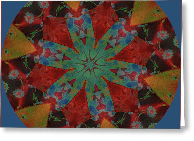Colorful Quilts Greeting Cards - The Color of Time Greeting Card by Bonnie Bruno