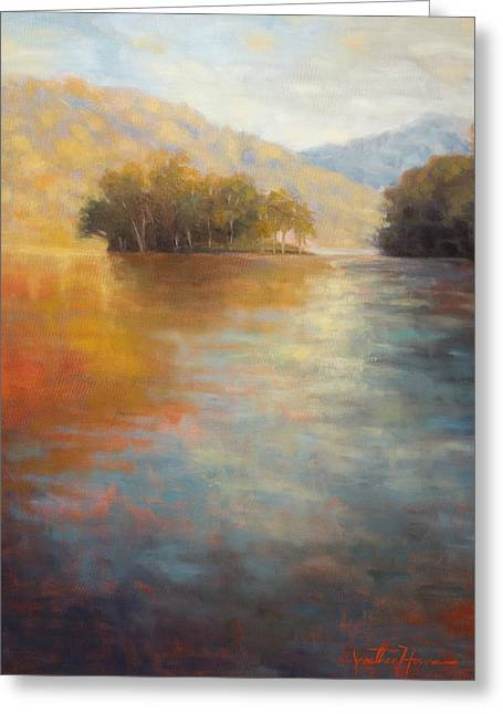 Jonathan Howe Greeting Cards - The Color of Water Greeting Card by Jonathan Howe