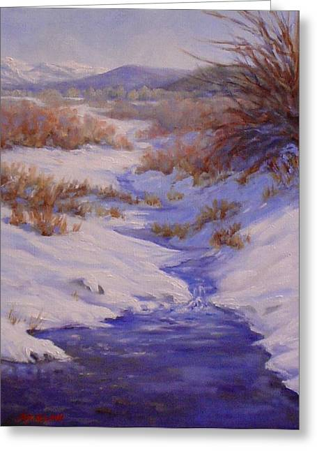 The Color Of Winter Greeting Card by Debra Mickelson