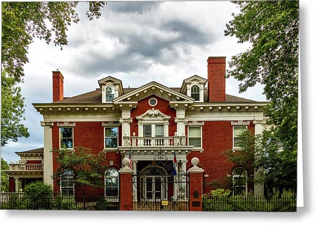 The Colorado Governor's Mansion Greeting Card by Mountain Dreams