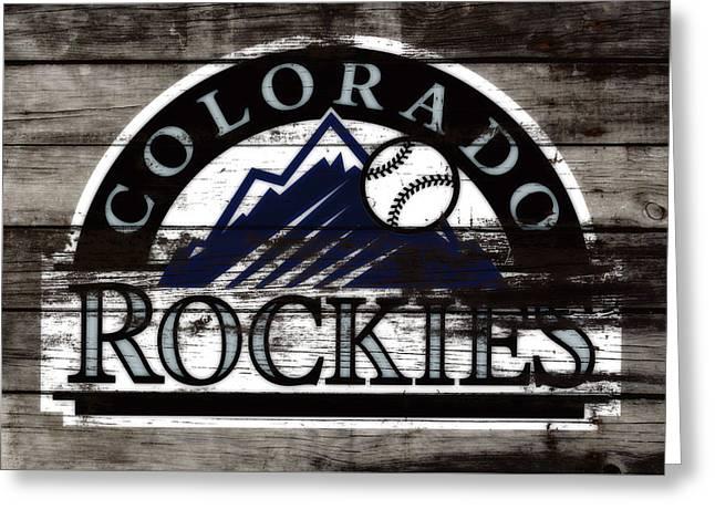 The Colorado Rockies 1b        Greeting Card by Brian Reaves