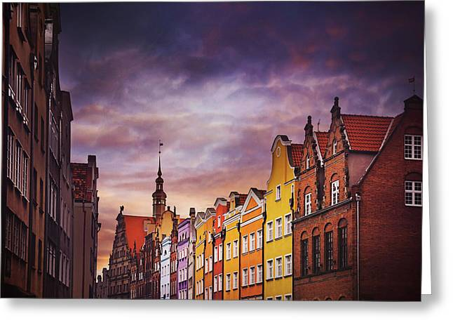 The Colorful Architecture Of Gdansk Greeting Card