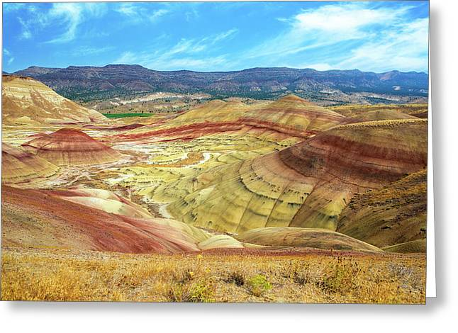 The Colorful Painted Hills In Eastern Oregon Greeting Card