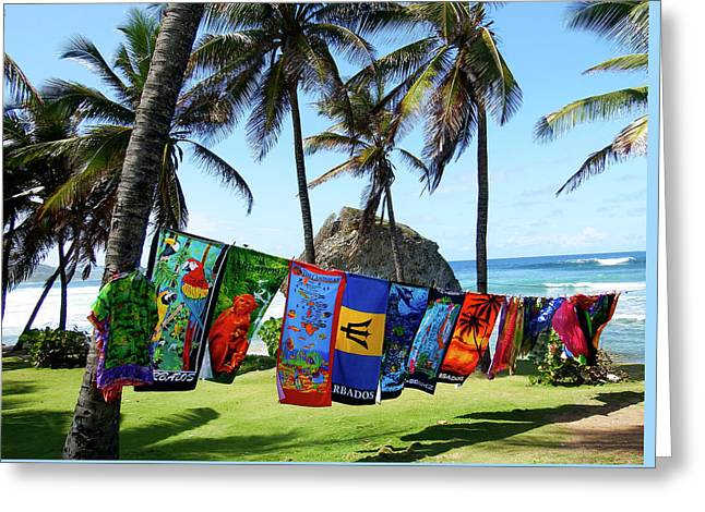 Greeting Card featuring the photograph The Colors Of Barbados by Kurt Van Wagner