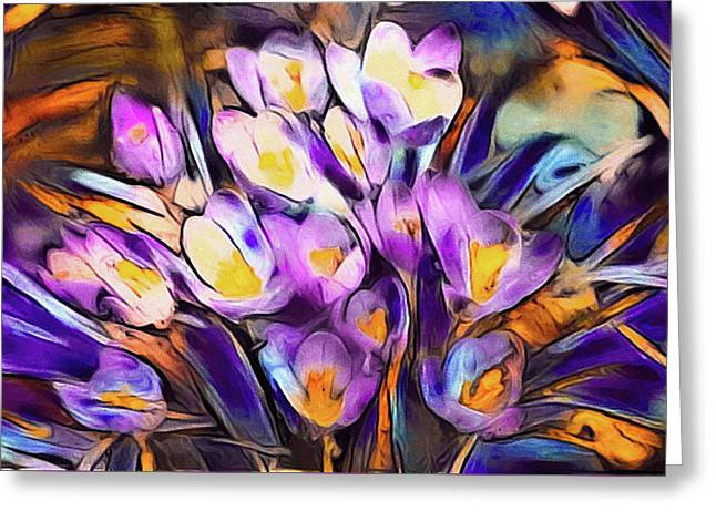 The Colors Of Crocus Greeting Card