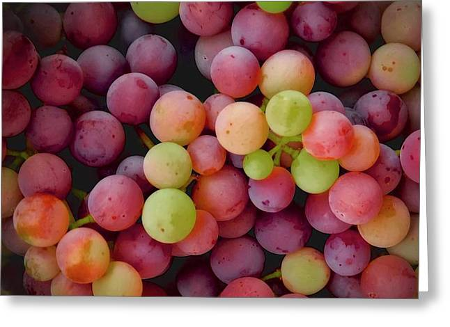 Colors Of Grapes Greeting Card